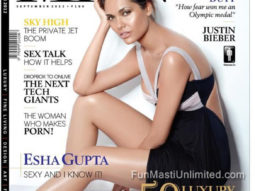 Esha Gupta On The Cover Of The Man,Sep 2012