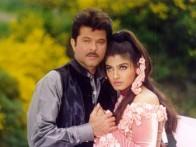 Movie Still From The Film Bulandi Featuring Anil Kapoor,Raveena Tandon