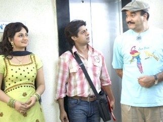 Movie Still From The Film Idiot Box,Upasna Singh,Sushant Singh,Surendra Pal