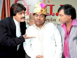 Movie Still From The Film Bhavnao Ko Samjho,Sunil Pal,Johny Lever,Ehsaan Qureshi