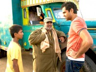 Movie Still From The Film Road, Movie,Mohammed Faisal Usmani,Satish Kaushik,Abhay Deol