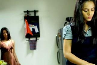 Movie Still From The Film Apartment,Tanushree Datta,Neetu Chandra