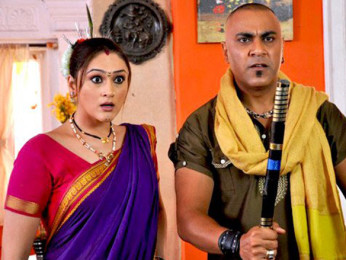 Movie Still From The Film My Friend Ganesha 3,Eva Grover, Baba Sehgal