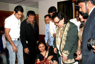 Photo Of Amar Upadhyay,Leena Chandavarkar,Bappi Lahiri From The Bappi Da Tusi Great Ho film mahurat