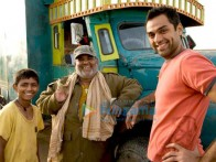 On The Sets Of The Fillim of Road,Movie Featuring,Abhay Deol,Satish Kaushik,Mohammed Faisal Usmani