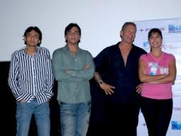 Photo Of Dhillin Mehta,Anthony D'Souza,Mr. James D Bomalick,Katrina Kaif From Akshay,Lara and Katrina watch Blue with NGO Kids