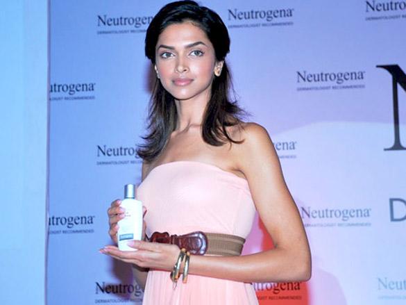 Deepika endorses Neutrogena products