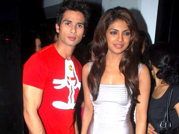 Shahid,Priyanka and others at the film Kaminey's media meet