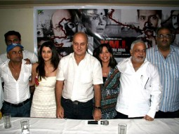 Photo Of Rajpal Yadav,Smily Suri,Anupam Kher,Perizaad Zorabian,N Chandra,Boney Kapoor From 'Yeh Mera India' media meet