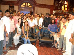 On The Sets Of The Fillim of Aladin Featuring,Sujoy Ghosh,Sanjay Dutt,Amitabh Bachchan,Ritesh Deshmukh