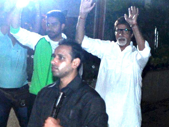 Amitabh and Abhishek Bachchan spotted at Jalsa