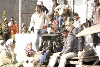 On The Sets Of The Film Lamhaa Featuring Sanjay Dutt,Bipasha Basu,Kunal Kapoor,Shernaz Patel,Aman Verma,Yashpal Sharma,Vishwajeet Pradhan,Vipin Sharma,Yuri Suri,Anupam Kher,Asif Basra,Rajesh Khera,Murli Sharma,Jyoti Dogra,Denzil Smith,Ehsaan Khan,Mahesh M