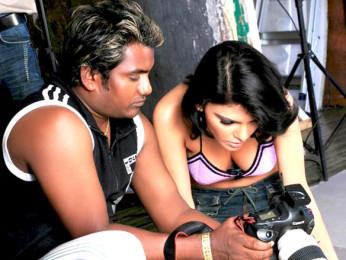 Photo Of Vishal Saxena,Sherlyn Chopra From The Sherlyn Chopra and Claudia Ciesla's photo shoot by photographer Vishal Saxena