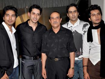 Photo Of Harsh Rajput,Sameer Aftab,Mehul Kumar,Aman Verma,Aditya Singh Rajput From The Team of 'Krantiveer - The Revolution' at the launch of Amboli Bar and Kitchen