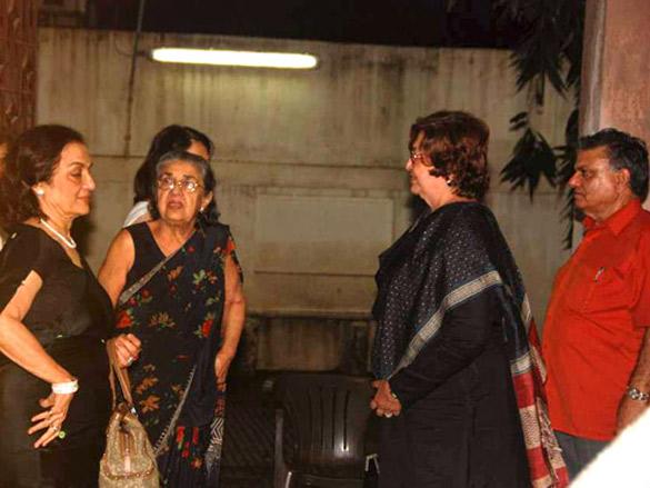 Asha Parekh, Helen and Waheeda Rahman at the screening of Raavan