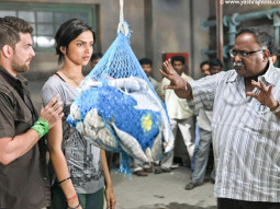 On The Sets Of The Film Lafangey Parindey Featuring Neil Nitin Mukesh,Deepika Padukone,Piyush Mishra,Anand Tiwari