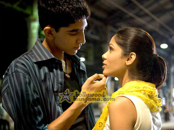 Movie Still From The Film Slumdog Millionaire Featuring Dev Patel,Freida Pinto