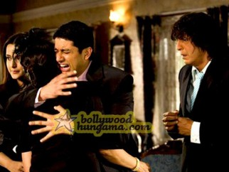 Movie Still From The Film Daddy Cool Featuring Aftab Shivdasani,Chunky Pey