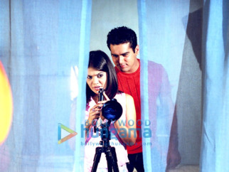 Movie Still From The Film Detective Naani Featuring Shweta Gulati,Amit Varma