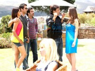 Movie Still From The Film Life Partner Featuring Fardeen Khan,Genelia D'souza,Tusshar Kapoor,Govinda