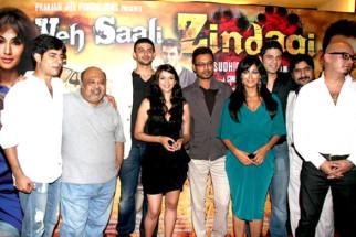 Photo Of Sushant Singh,Saurabh Shukla,Arunoday Singh,Aditi Rao Hydari,Irrfan Khan,Chitrangda Singh,Vipul Gupta,Yashpal Sharma From The Chitrangda at Prakash Jha's film 'Yeh Saali Zindagi' film launch
