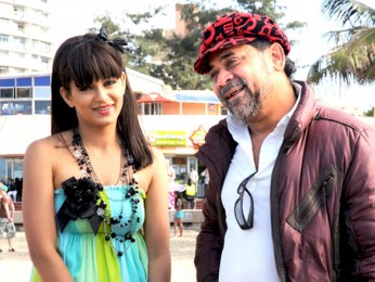 On The Sets Of The Film No Problem Featuring Anil Kapoor,Sanjay Dutt,Akshaye Khanna,Suniel Shetty,Kangna Ranaut,Neetu Chandra,Sushmita Sen,Paresh Rawal,Saloni Daini,Shakti Kapoor,Mukesh Tiwari,Vishwajeet Pradhan,Ranjeet,Suresh Menon