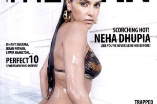 Neha Dhupia On The Cover Of The Man,May 2008
