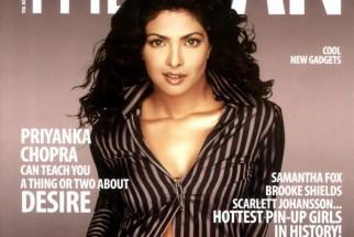 Priyanka Chopra On The Cover Of The Man,Nov 2008