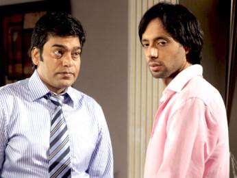 Movie Still From The Film A Strange Love Story,Ashutosh Rana,Eddie Seth