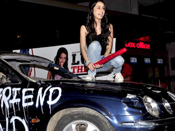 Shraddha Kapoor breaks a Jaguar for 'Luv Ka The End' promotions