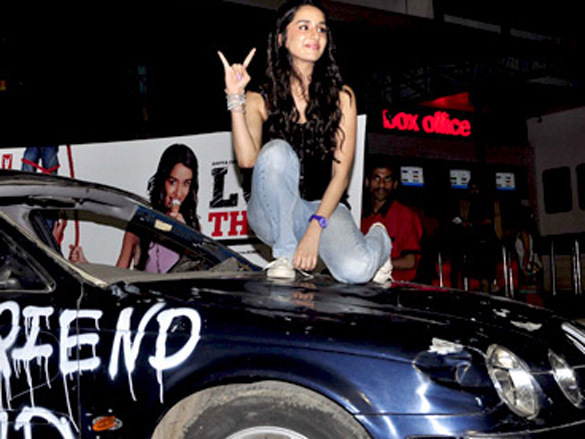 Shraddha Kapoor breaks a Jaguar for 'Luv Ka The End' promotions