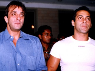 Photo Of Sanjay Dutt,Salman Khan From The Audio Release Of Chori Chori Chupke Chupke