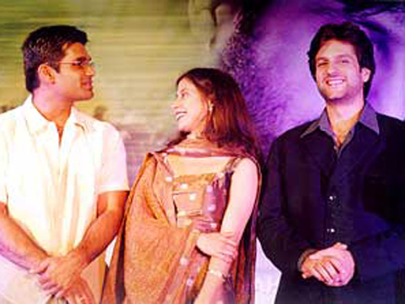 Photo Of Suniel Shetty,Urmila,Fardeen Khan  From The Audio Release Of Jungle