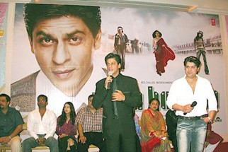 Photo Of Amrita Rao,Satish Shah,Shahrukh Khan,Bindu,Sajid Khan From The Audio Release Of Main Hoon Na