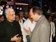 Photo Of Sunil Dutt,Sanjay Dutt From The Audio Release Of 'Munnabhai MBBS'