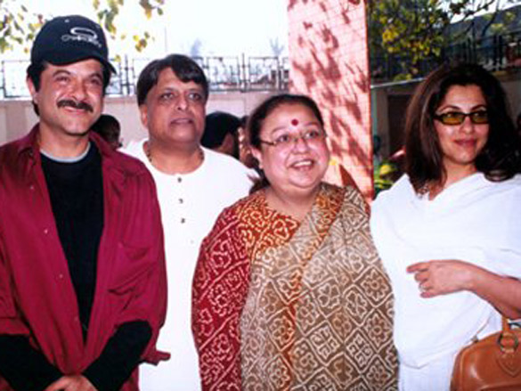 Photo Of Anil Kapoor,Dinesh Gandhi,Honey Irani,Dimple Kapadia From The Mahurat Of Honey Irani's Untitled Venture