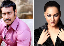 Ajay Devgn and Sonakshi Sinha in Son Of Sardar
