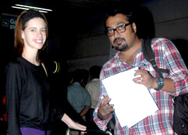 Anurag and Kalki leave for US premiere of That Girl In Yellow Boots