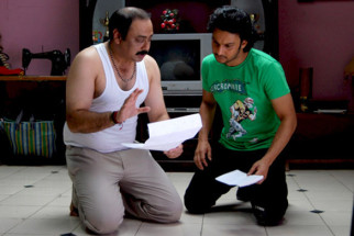 Movie Still From The Film Stand By,Sachin Khedekar,Adinath Kothare