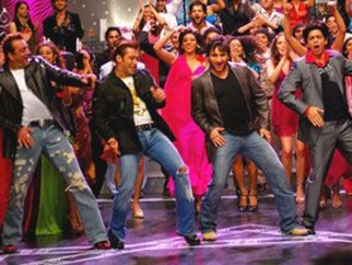 Movie Still From The Film Om Shanti Om,Sanjay Dutt,Salman Khan,Saif Ali Khan,Shahrukh Khan