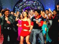 Movie Still From The Film Om Shanti Om,Bobby Deol,Preity Zinta,Shahrukh Khan
