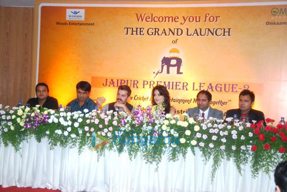 Neil & Ameesha at the launch of Jaipur Premier League 2