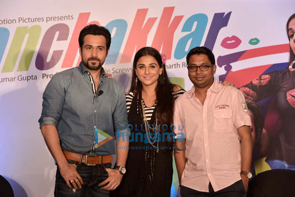 Vidya & Emraan at 'Ghanchakkar' promotion