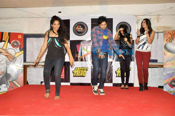 Nargis & Varun promote 'Main Tera Hero' at Mithibai College