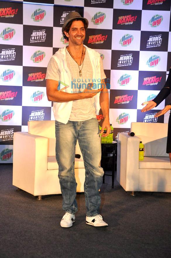 Hrithik Roshan & Katrina Kaif at the launch of Bang Bang! & Mountain Dew's  #HeroesWanted