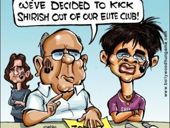 Shirish out of elite slap-club