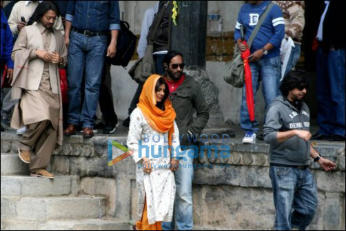Priyanka Chopra on the sets of Saat Khoon Maaf