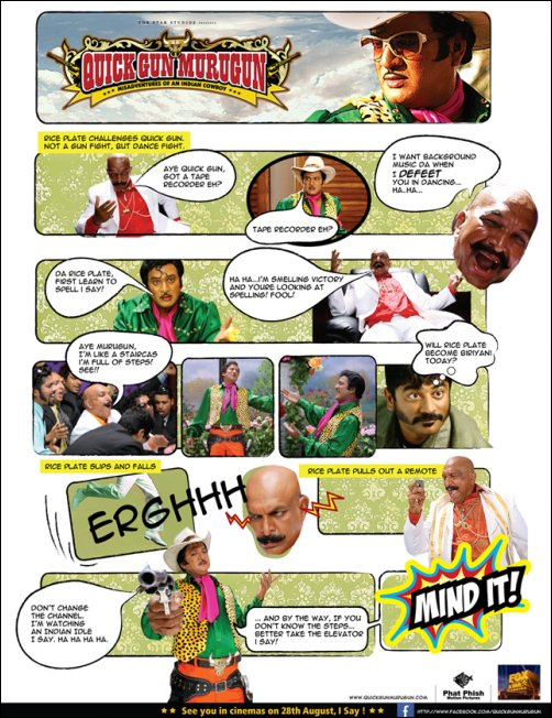 Quick Gun Murugan steps into a comic strip