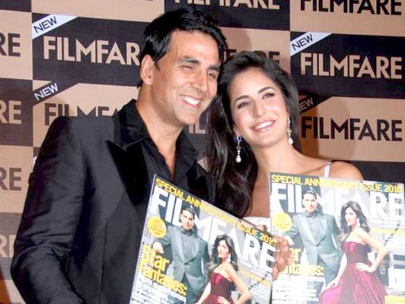 Akshay and Katrina unveil Filmfare's latest issue