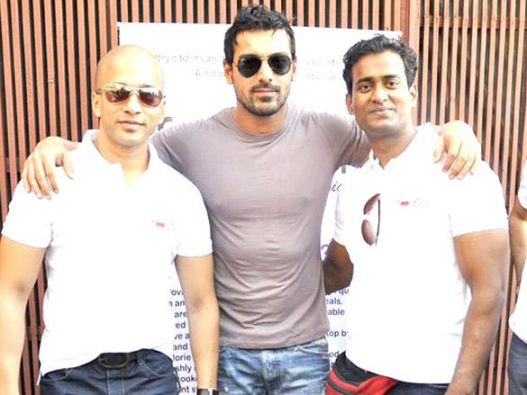 John, Sohail, Ritesh and Ashish at Foodizm launch